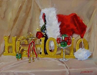 Santas Cheer Two Poster by Laura Lee Zanghetti