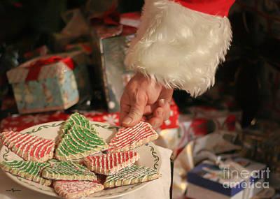 Santas Cookies Poster by Mechala  Matthews