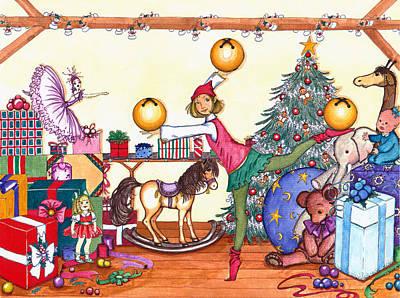 Santa's Giftwrapper Poster by Katherine Miller