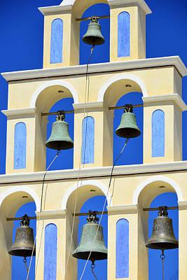 Santorini Bell Tower 2 Poster
