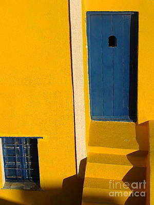 Santorini Doorway Poster by Suzanne Oesterling