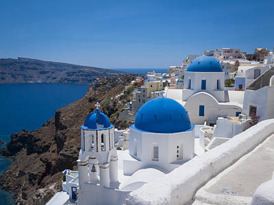 Santorini On A Summer Day Poster by Don McGillis