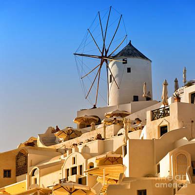 Santorini Windmill 05 Poster