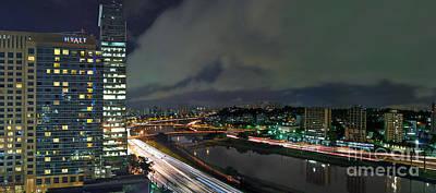 Sao Paulo - Modern Skyline - Brooklin District - Pinheiros River Poster by Carlos Alkmin