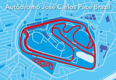Sao Paulo Race Track Poster by Big City Artwork