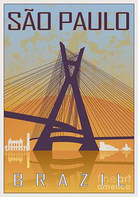 Sao Paulo Vintage Poster Poster by Pablo Romero