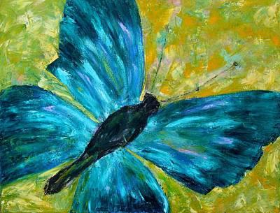 Sapphirine Butterfly Poster