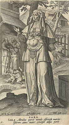 Sara, Jan Collaert II, Philips Galle, Cornelis Kiliaan Poster by Jan Collaert (ii) And Philips Galle And Cornelis Kiliaan