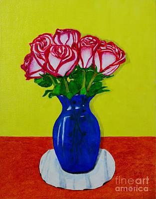 Sara's Roses Poster by Melvin Turner