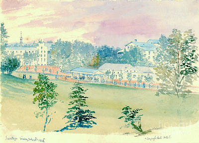 Saratoga Springs New York 1846 Poster by Padre Art