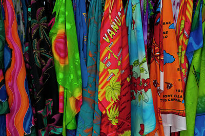 Sarongs For Sale In Port Vila, Island Poster