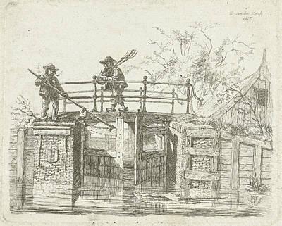 Sash Lock, Schutsluis In Amsterdam, The Netherlands Poster