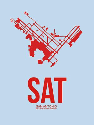 Sat San Antonio Airport Poster 1 Poster by Naxart Studio