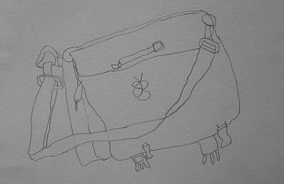 Poster featuring the drawing Satchel by AJ Brown