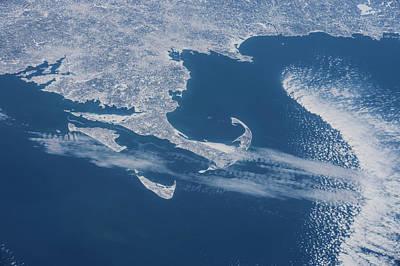 Satellite View Of Cape Cod Area Poster