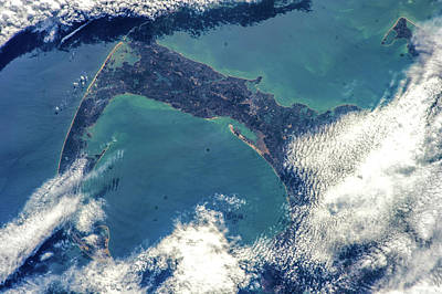 Satellite View Of Cape Cod National Poster