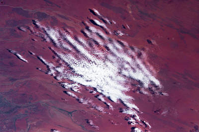 Satellite View Of Clouds Over Desert Poster