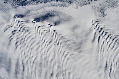 Satellite View Of Clouds Over North Poster