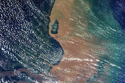 Satellite View Of Coastal Area Of Amapa Poster