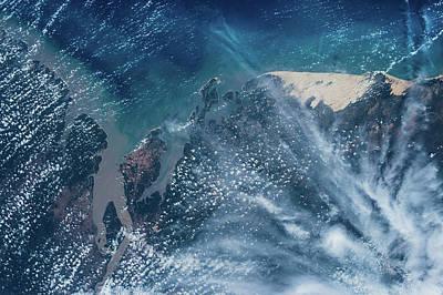 Satellite View Of Coastal Area, Sao Poster