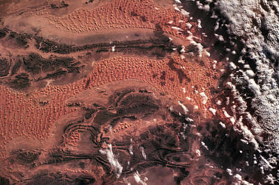 Satellite View Of Desert, El Bayadh Poster