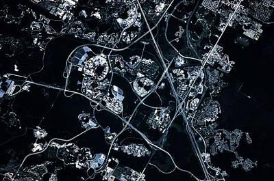 Satellite View Of Disneyworld, Orlando Poster
