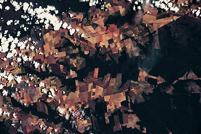 Satellite View Of Fields, Mato Grosso Poster