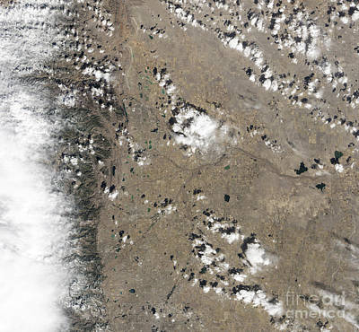 Satellite View Of Fort Collins Poster