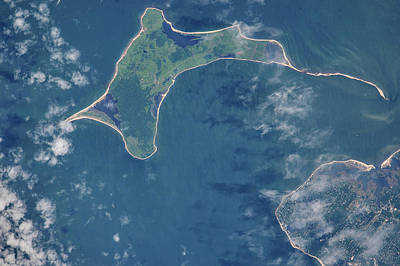 Satellite View Of Gardiners Island Poster