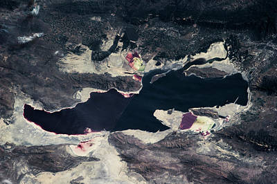 Satellite View Of Great Salt Lake Poster