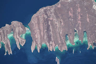 Satellite View Of Isla Del Espiritu Poster