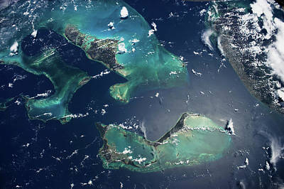 Satellite View Of Islands In North Poster