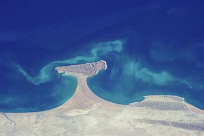 Satellite View Of Makran Coastal Poster