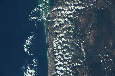 Satellite View Of Miami Along Atlantic Poster