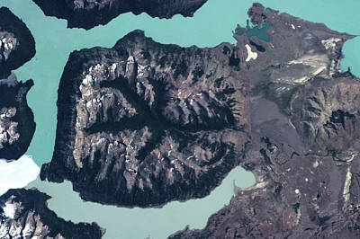 Satellite View Of Mountains Poster