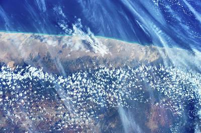 Satellite View Of Mudug Coastline Poster