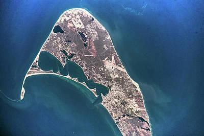 Satellite View Of Nantucket Island Poster