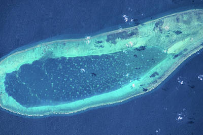 Satellite View Of Parcel Islands Poster
