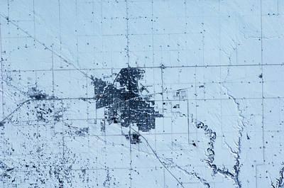 Satellite View Of Regina, Saskatchewan Poster