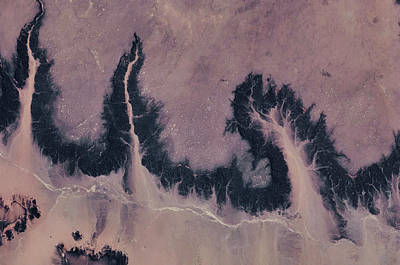 Satellite View Of River Near Agades Poster