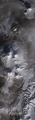Satellite View Of Russias Kamchatka Poster