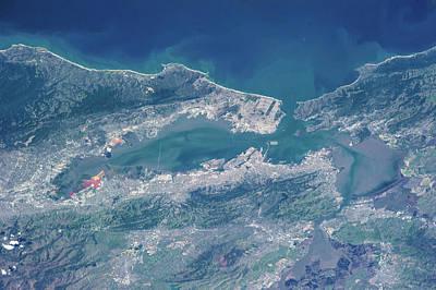 Satellite View Of San Francisco Poster