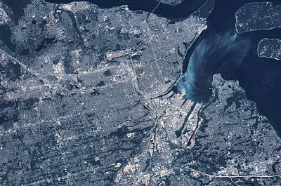 Satellite View Of Tacoma, Pierce Poster