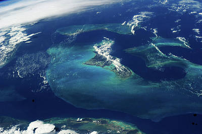 Satellite View Of The Bahamas Poster