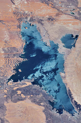 Satellite View Of Toshka Lakes Poster
