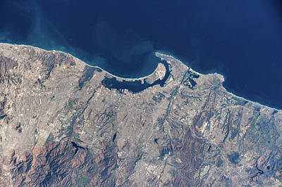Satellite View Showing Coastal Areas Poster