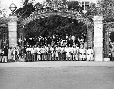 Sather Gate Confrontation Poster by Underwood Archives Thornton