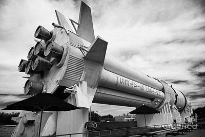 saturn 1B rocket in the the rocket garden at Kennedy Space Center Florida USA Poster by Joe Fox