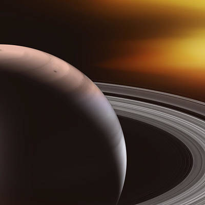 Saturn And Rings Poster by Daniel Hagerman