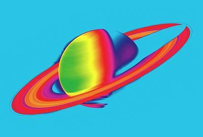 Saturn From Space Poster by Detlev Van Ravenswaay
